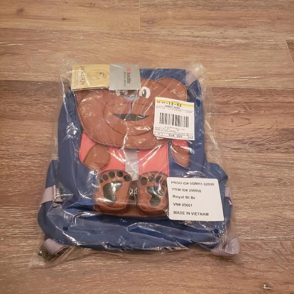 LLBean Blue Baby Bear Packpack, Toddler